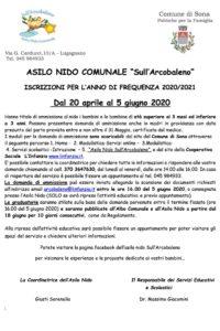 Iscrizioni 2020 - Asilo Nido sull'Arcobaleno