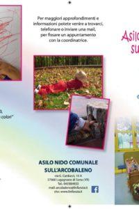 Pieghevole - Asilo Nido sull'Arcobaleno