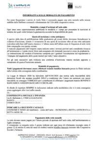Modalità Pagamento - Asilo Nido Castelfiorito