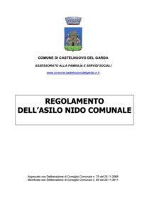 Regolamento - Asilo Nido Castelfiorito